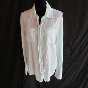 Michael Stars Mint Green Shirt Top Blouse M Supima